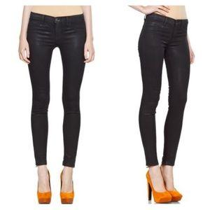 J Brand Coat Stealth Coated Denim Skinny Jean